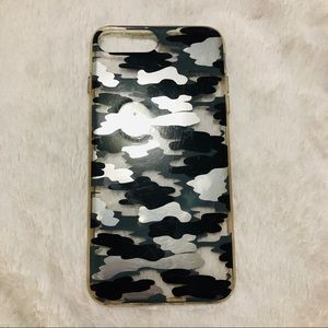 Black and Grey Camo iPhone Case
